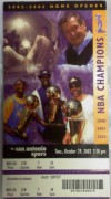 Spurs at Lakers 2002 ticket stub