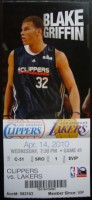 Lakers at Clippers 2010 ticket stub