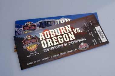 2011 BCS Championship Ticket Stub Oregon vs Auburn