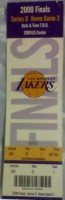 2000 NBA Finals Game 6 Ticket Stub Lakers vs Pacers