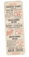 1967 Red Sox Full Ticket