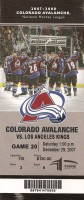 Kings at Avalanche 2007 Ticket Stub