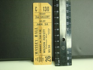 Wilson Picket  1970 stub