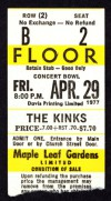 Kinks 1977 Toronto Maple Leaf Gardens