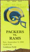 Rams at Packers 1990