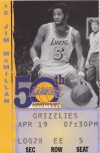Vancouver Grizzlies at Lakers 1999