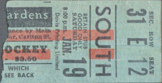 1946 Maple Leafs ticket stub vs Rangers