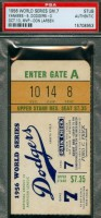 1956 World Series Game 7 ticket stub Yankees at Dodgers
