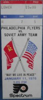 1976 Int'l Ice Hockey Soviets at Flyers