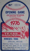 Twins at Rangers 1976 Opening Game