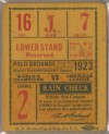 1923 World Series Game 2 Ticket Stub Yankees at Giants