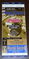1995 World Series Game 5 ticket Braves at Indians