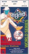 1999 World Series Game 4 ticket Braves vs Yankees