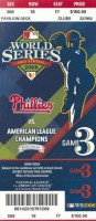 2008 World Series Game 3 ticket Rays at Phillies