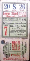 1921 World Series Game 7 Ticket Stub Yankees at Giants
