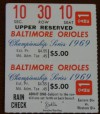 1969 ALCS Twins at Orioles Gm 1