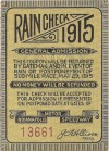 1915 Indianapolis 500 ticket stub