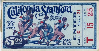 1929 NCAAF Cal at Stanford stub