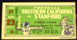1934 NCAAF USC at Stanford