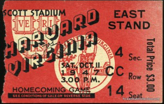 1947 NCAAF Harvard at Virginia
