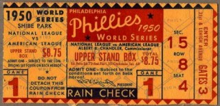 1950 World Series Game 1 Ticket Stub Yankees vs Phillies