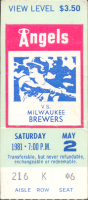 Angels vs Brewers 5-2-1981