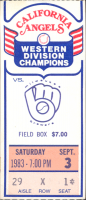 Angels vs Brewers 8-3-1983