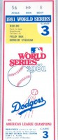 1981 World Series Yankees at Dodgers Gm 3