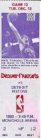 1983 Pistons at Nuggets