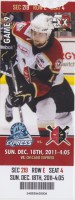2011 ECHL Wheeling Nailers ticket vs Chicago Express