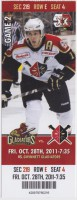 2011 ECHL Wheeling Nailers ticket stub vs Gwinnett Gladiators