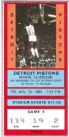 1984 76ers at Pistons