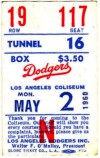 1960 Reds at Dodgers
