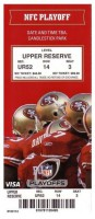 2012 NFC Divisional Game ticket stub Saints vs 49ers