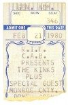 1980 The Kinks in Rochester
