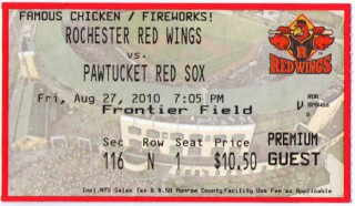 2010 MiLB Red Sox at Red Wings  stub