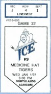 1997 WHL Tigers at Ice