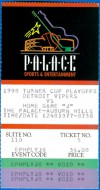 1998 IHL Detroit Vipers playoffs ticket stub vs Chicago Wolves