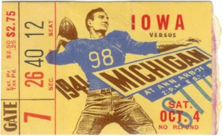 1941 NCAAF Iowa at Michigan