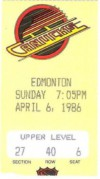 1986 Oilers at Canucks