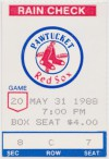 1988 Pawtucket Red Sox ticket stub