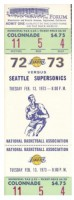 1973 Supersonics at Lakers