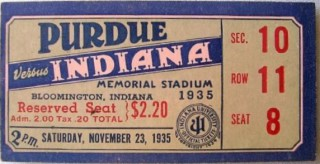 1935 NCAAF Purdue at Indiana