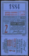 1922 World Series Game 2 Ticket Stub Yankees at Giants