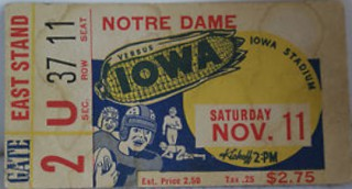 1939 NCAAF Notre Dame at Iowa