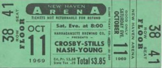 1969 NSNY New Haven stub