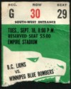 1973 CFL Blue Bombers at Lions