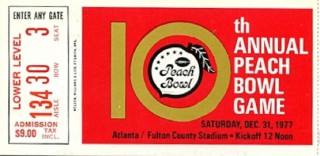 1977 Peach Bowl NC STATE VS IOWA STATE stub