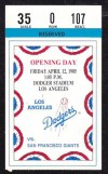 1985 Opening Day Giants at Dodgers