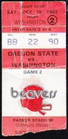1982 NCAAF Washington at Oregon St